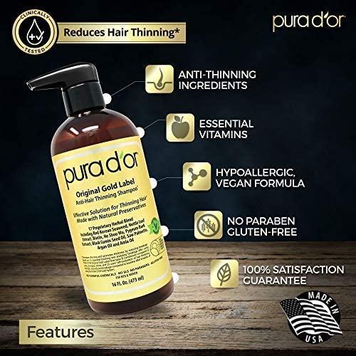 pura d'or shampoo gegen haarausfall